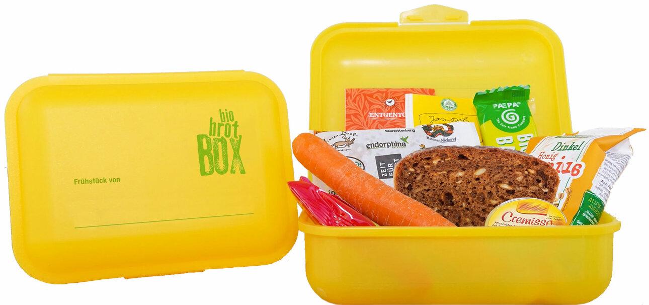 edes Kind soll täglich ein Frühstück bekommen. Daran soll Eltern die gelbe Box erinnern.
