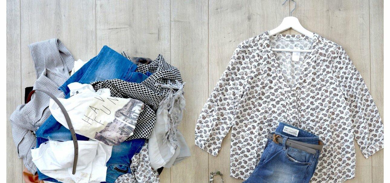 Die passende Bluse zur Hose - Second-Life-Fashion präsentiert aufeinander abgestimmte Outfits.