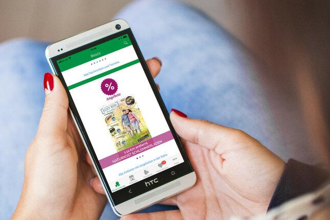 Biohändler Angebote direkt aufs Handy - Statt Papier