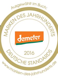 Auszeichnung für Demeter: Die Marke gehört zu den Besten in Deutschland